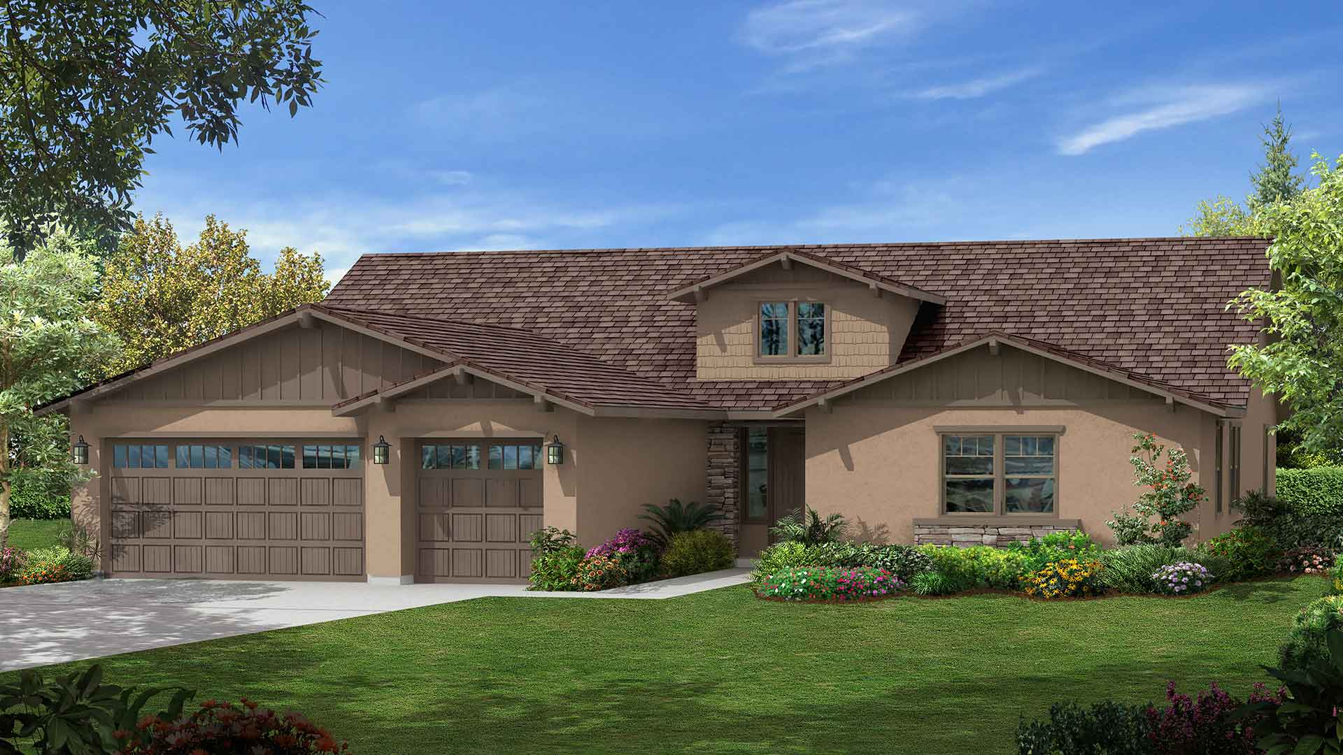 Shires community highgate at seven oaks bakersfield for Custom home builders bakersfield ca